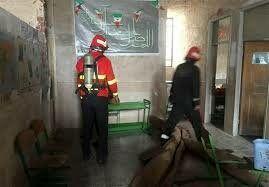 تخلف 11 نفر از کارکنان آموزش و پرورش در آتشسوزی دبستان اسوه حسنه