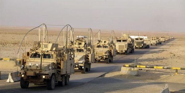 ورود یک کاروان نظامیان تروریست آمریکایی به پایگاهی در استان الحسکه