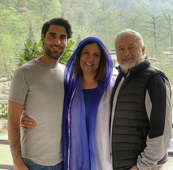 مجید مشیری در کنار همسر و پسر جوانش + عکس