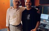 اشکان خطیبی در کنار استاد موسیقی ایران + عکس