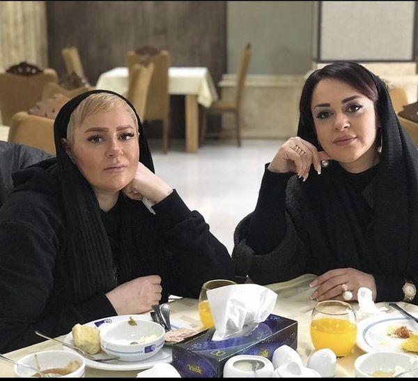 نعیمه نظام دوست و دوستش در رستوران + عکس
