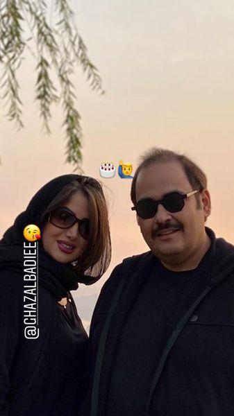 رضا داوودنژاد در کنار همسرش + عکس