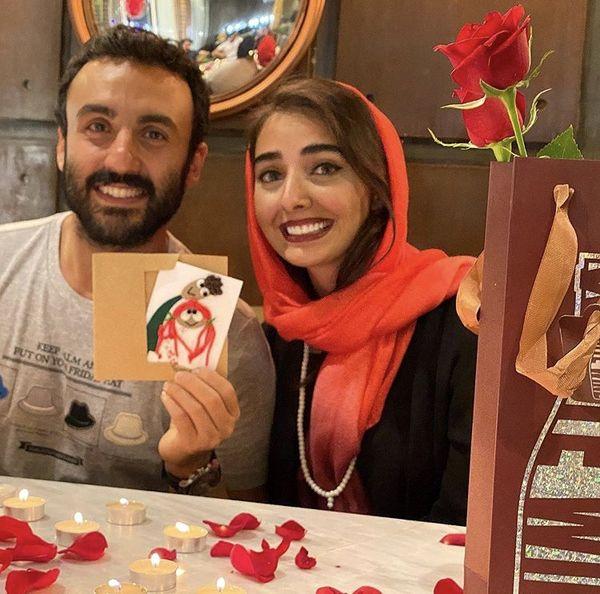 پسر و عروس خانم بازیگر مشهور + عکس