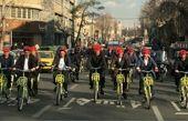 دوچرخه سواری شهردار تهران تا دفتر جهانگیری! + عکس