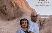 کوهنوردی حدیثه تهرانی با همسرش + عکس