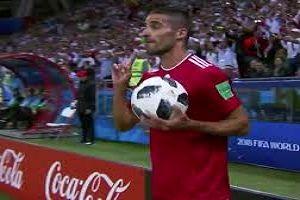 پرتاب اوت محمدی در میان لحظات به یادماندنی و جالب جام جهانی 2018