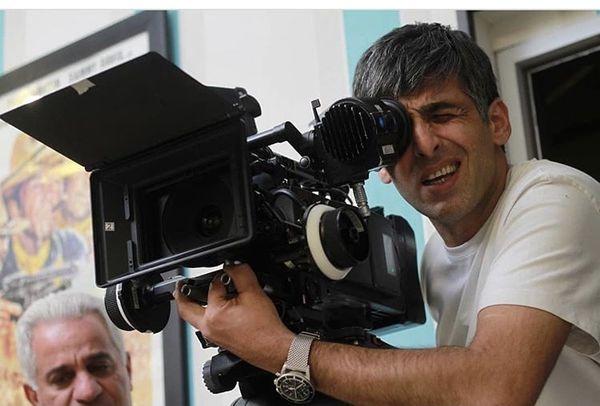 حمید گودرزی در حال فیلمبرداری + عکس