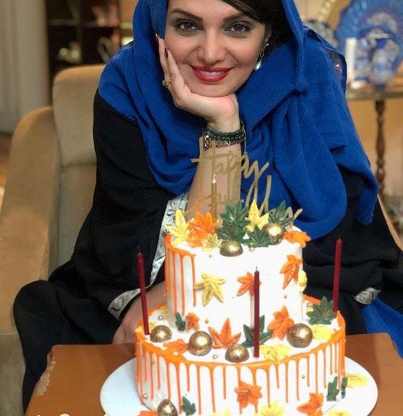 کیک دو طبقه پاییزی الهام پاوه نژاد