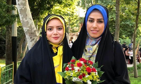 خانم مجری و دوستش در پارک های تهران + عکس