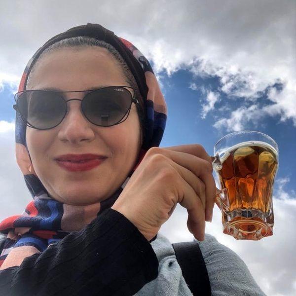 چای آسمانی خانم بازیگر + عکس