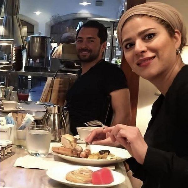 سحر دولتشاهی و بهرام رادان در یک رستوران + عکس