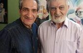 خشایار راد در کنار بازیگر قدیمی + عکس