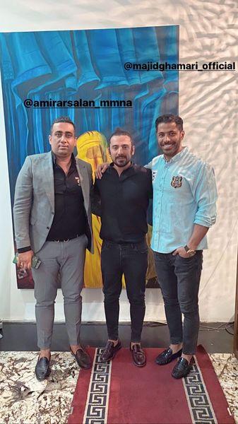 امیرعباس گلاب در کنار دوستانش + عکس
