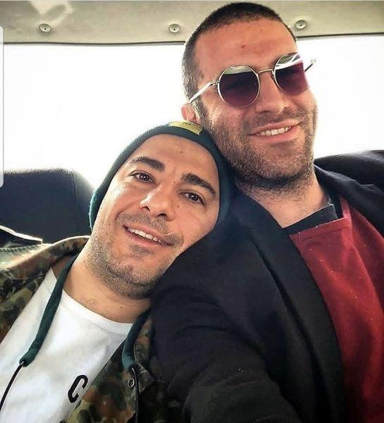 عاشقانه های نوید محمدزاده در آغوش بازیگر مشهور + عکس