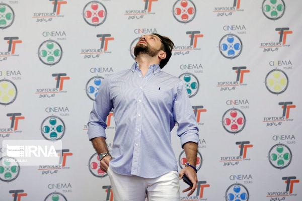 ژست عجیب بهرام رادان در جشنواره فیلم سینما تورز+عکس