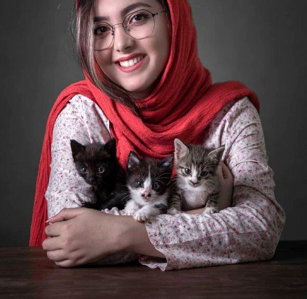 زیبا کرمعلی و حیوانات خانگی اش+عکس
