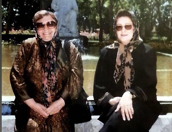 جوانی های مریم امیرجلالی در کنار مرحوم حمیده خیرآبادی + عکس