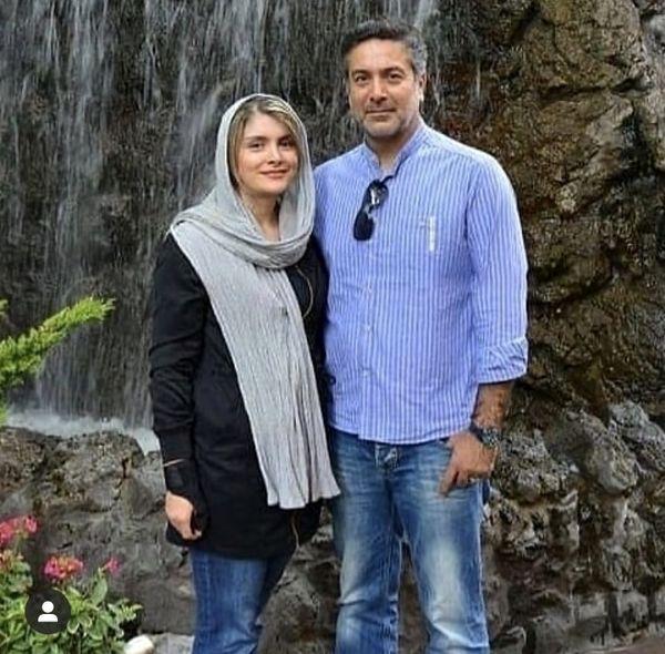 حمیدرضا پگاه و و همسرش + عکس