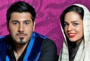 احسان خواجه امیری و همسرش در رونمایی از آلبوم جدیدش/عکس