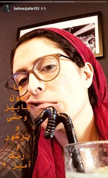 ادای عجیب خانم بازیگر در سلفی+عکس