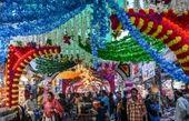 بازار تزئین شده با گل + تصویر جالب