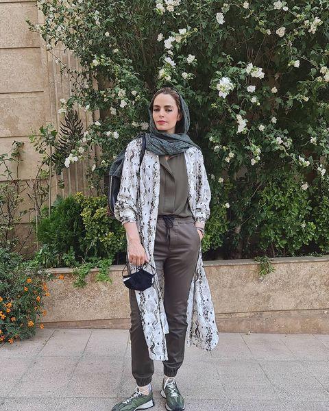 تیپ اسپرت سپیده خداوردی در خیابان + عکس