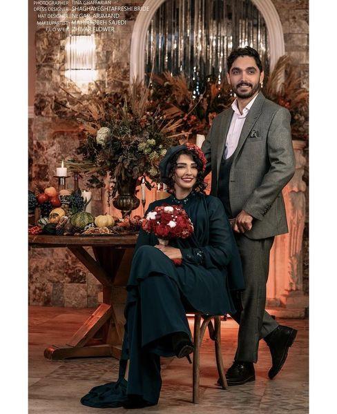 عکس آتلیه ای سیما خضرآبادی و همسرش
