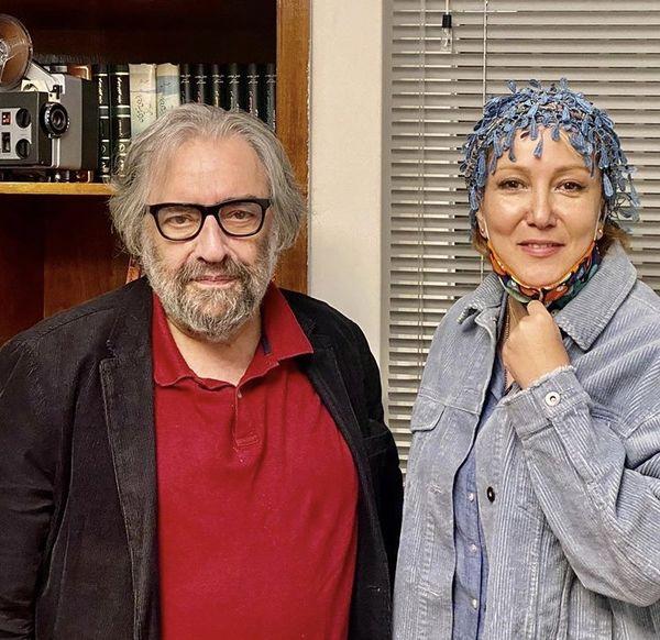 پانته آ بهرام در کنار کارگردان قدیمی + عکس