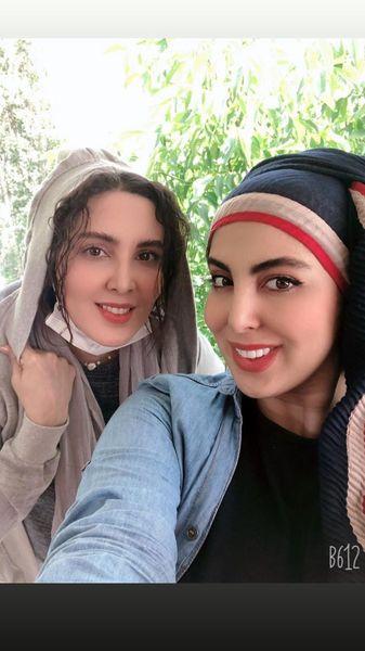 شباهت خانم بازیگر به خواهرش + عکس