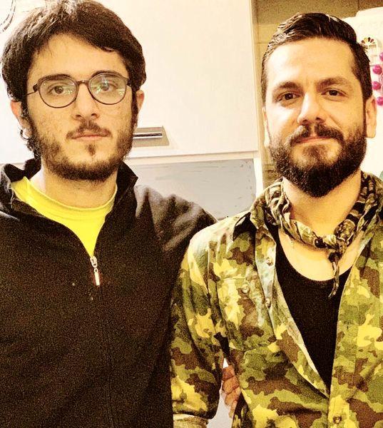 عباس غزالی در کنار برادر کوچکش + عکس