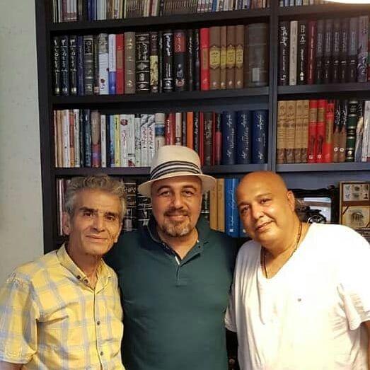 عکس بازیگر شب های برره در کنار کارگردان بزرگ طنز ایران