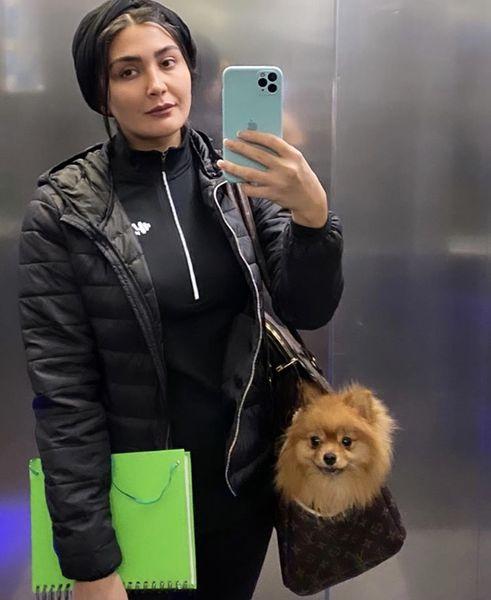 مریم معصومی و سگش + عکس
