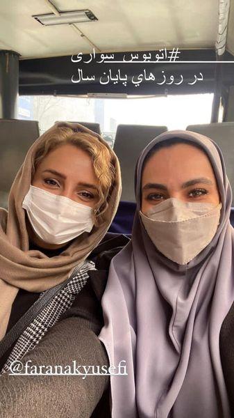 اتوبوس سواری شبنم قلی خانی + عکس