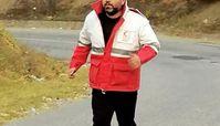 شهرام قائدی در لباس هلال احمر + عکس