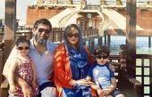 مصطفی کیایی و خانواده اش در کیش + عکس