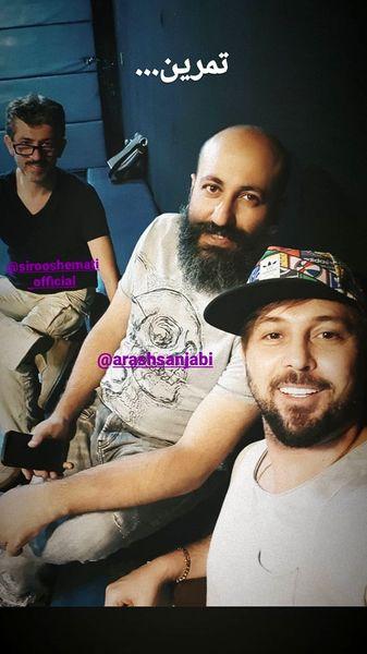دانیال عبادی و دوستانش در حال تمرین + عکس