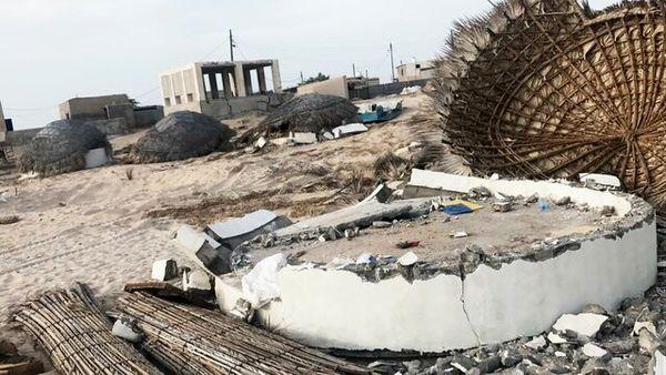 پاکسازی حریم دریای جزیره هنگام از زمین خواران