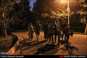 شب نشینی در پارکهای تهران