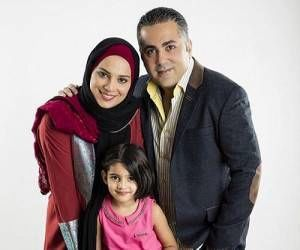 روشنک عجمیان به همراه همسر و دخترش + عکس