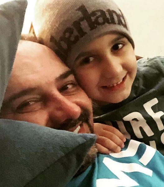 حال خوب برزو ارجمند با پسرش + عکس