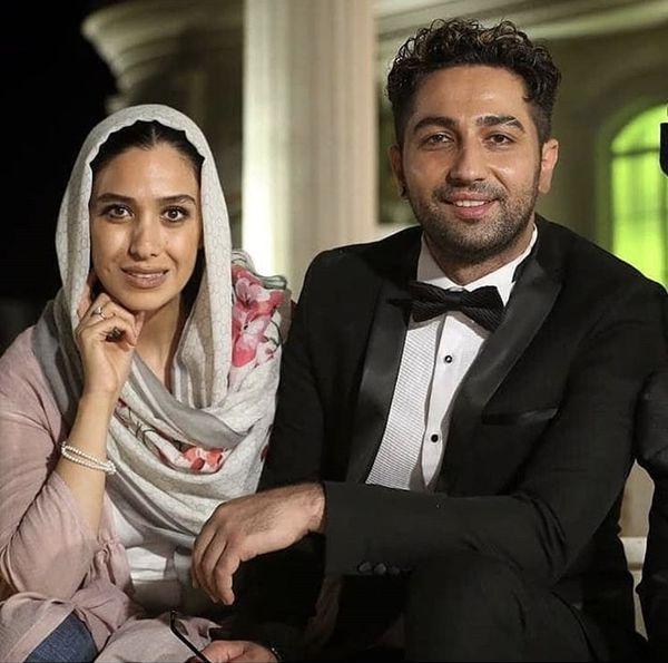 علی سخنگو در کنار همسرش + عکس
