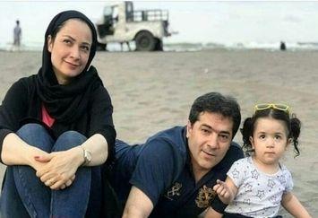 فهیمه پایتخت با همسر و دختر نازش لب دریا+عکس