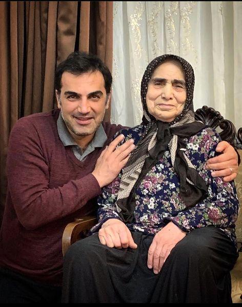 کوروش سلیمانی و مادرش + عکس
