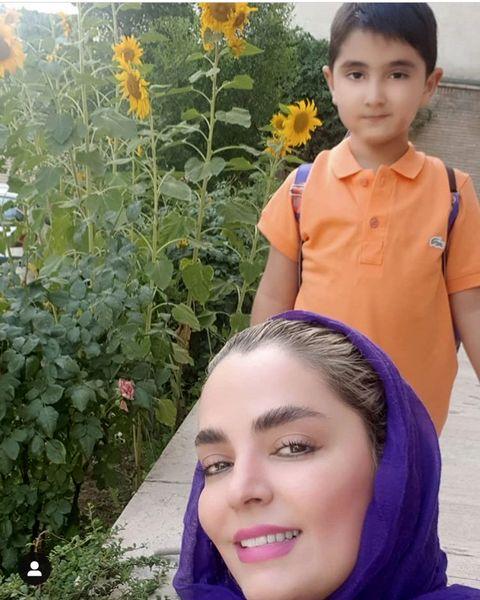 سلفی سپیده خداوردی با پسرش + عکس