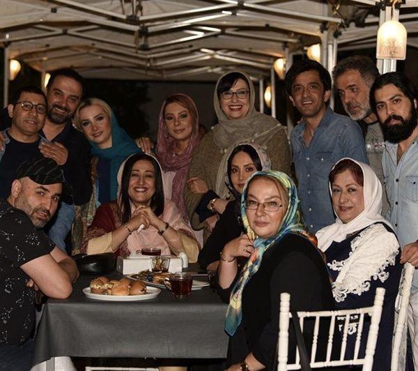 دورهمی شام جمعی از بازیگران مشهور + عکس