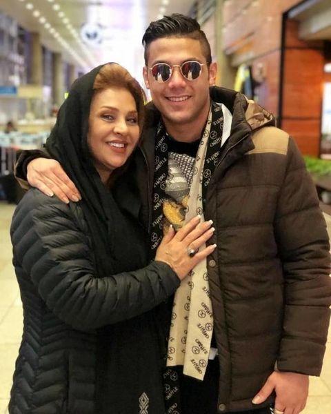خوشحالی نسرین مقانلو از بازگشت پسرش به ایران + عکس