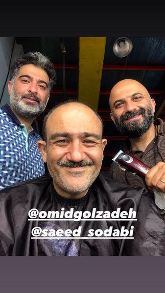 مهران غفوریان در حال اصلاح + عکس