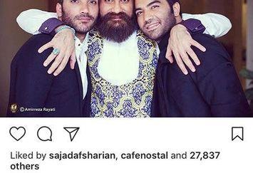 عکس خیلی مهربان علی زند وکیلی با برادران عزیز از جانش