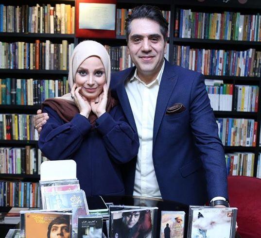 صبا راد در رونمایی آلبوم همسرش