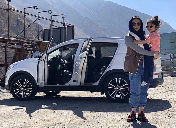 یکتا ناصر و دخترش در راه سفر + عکس
